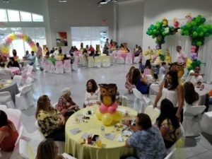 Baby Shower indoor party place for a baby shower